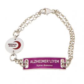 Alzheimer Bilekliği - Gümüş